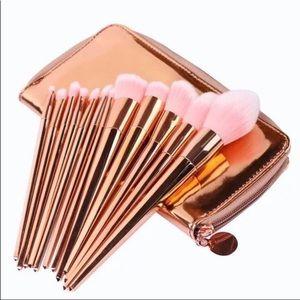 12 Pcs Makeup Brushes Bronze